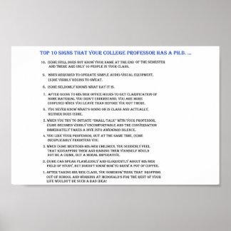 Top 10 signs your professor has a Ph.D.