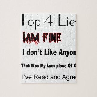 Top 4 Lies Jigsaw Puzzle