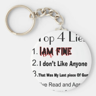 Top 4 Lies Keychain