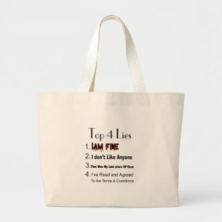 Top 4 Lies Large Tote Bag