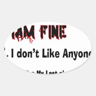 Top 4 Lies Oval Sticker