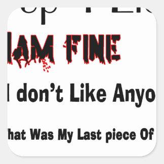 Top 4 Lies Square Sticker