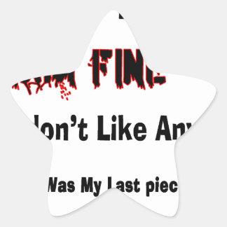 Top 4 Lies Star Sticker