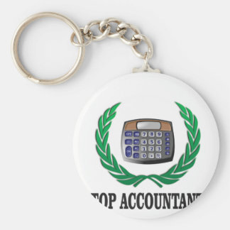 top accountant seal basic round button keychain
