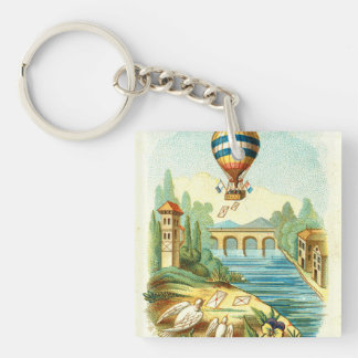 TOP Air Trip Double-Sided Square Acrylic Keychain