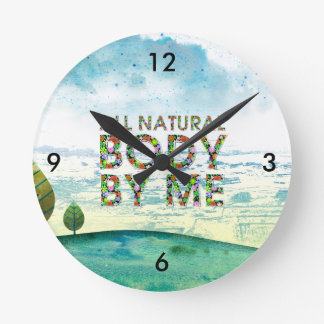 TOP All Natural Body Round Clock
