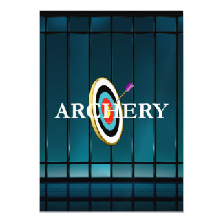 TOP Archery Magnetic Invitations