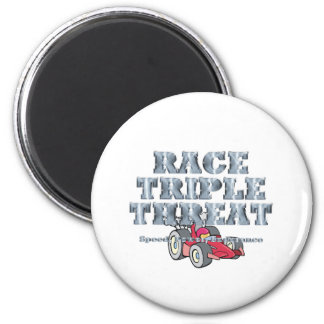TOP Auto Race Triple Threat 2 Inch Round Magnet