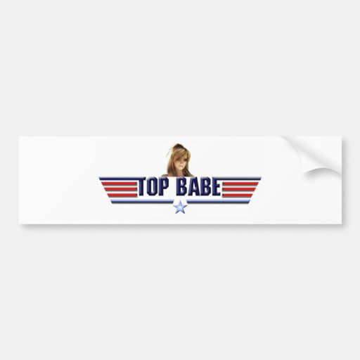Top babe bumper sticker