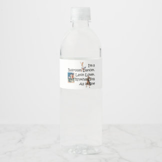 TOP Ballroom All in One Water Bottle Label