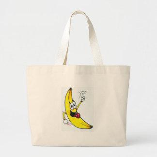 Top Banana, dancing banana cartoon Canvas Bags