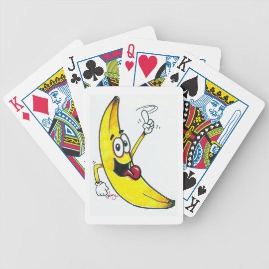 Top Banana, dancing banana cartoon Poker Deck