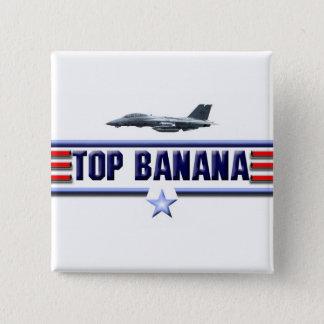 Top Banana Logo 2 Inch Square Button