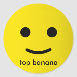 top banana round sticker