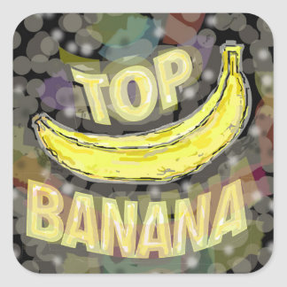Top banana. square sticker