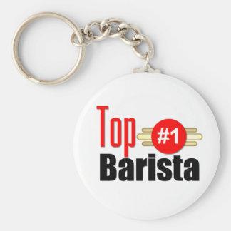 Top Barista Basic Round Button Keychain