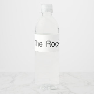 TOP Be the Rock Water Bottle Label