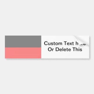 top black bottom red 50 lightness DIY custom Bumper Sticker
