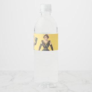 TOP Bodybuilding Girl Water Bottle Label