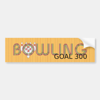 TOP Bowling Goal 300 Bumper Sticker
