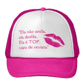 Top cap trucker hat