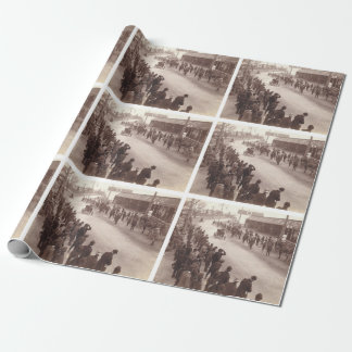 TOP Car Race Old School Wrapping Paper