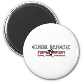 TOP Car Race Triple 2 Inch Round Magnet