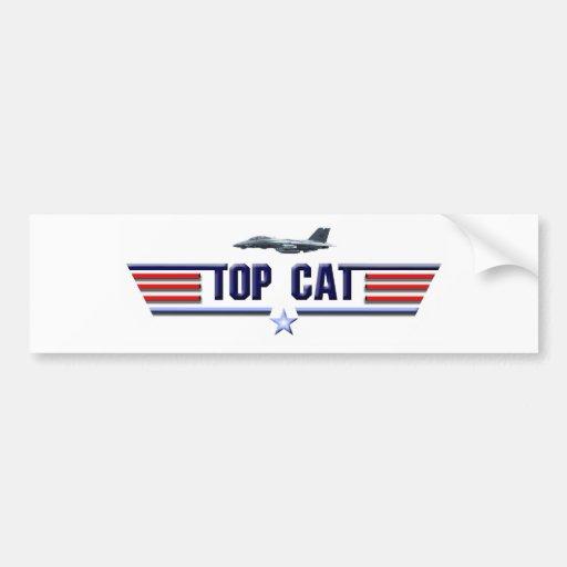 Top Cat Logo Bumper Sticker