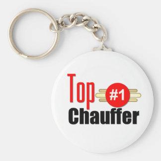 Top Chauffer Basic Round Button Keychain