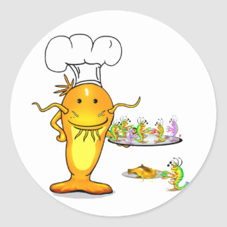 Top Chef Catfish Classic Round Sticker