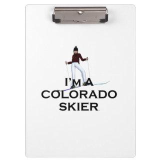 TOP Colorado Skier Clipboard