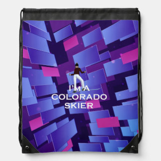 TOP Colorado Skier Drawstring Bag