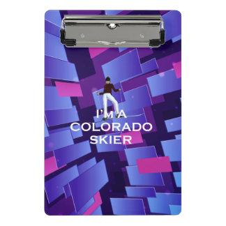 TOP Colorado Skier Mini Clipboard