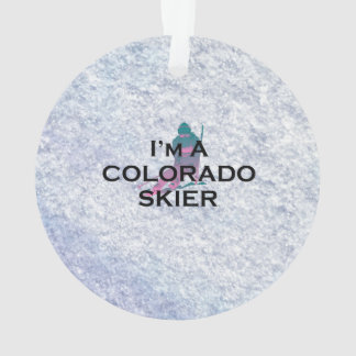 TOP Colorado Skier Ornament