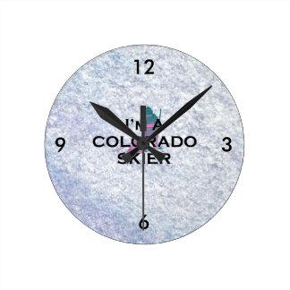 TOP Colorado Skier Round Clock