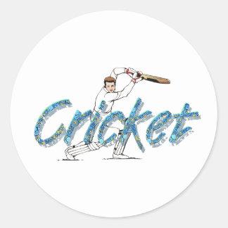 TOP Cricket Classic Round Sticker