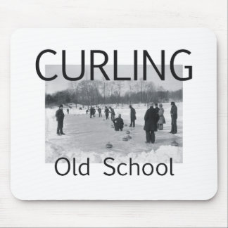 TOP Curling Old School Mouse Pad