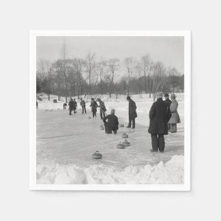 TOP Curling Old School Paper Napkin