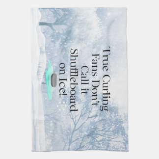 TOP Curling Slogan Hand Towel