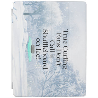TOP Curling Slogan iPad Cover