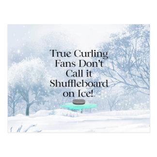 TOP Curling Slogan Postcard