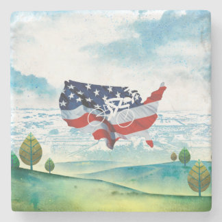 TOP Cycling in the USA Stone Coaster