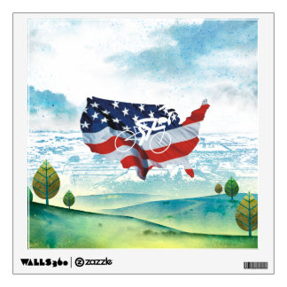 TOP Cycling in the USA Wall Sticker