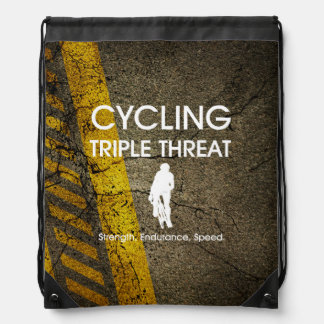 TOP Cycling Triple Threat Drawstring Bag