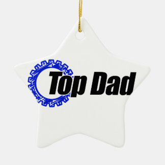 Top Dad Ceramic Ornament