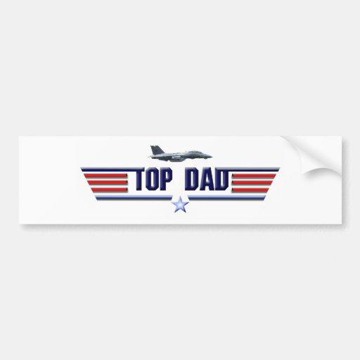 Top Dad Logo Bumper Stickers