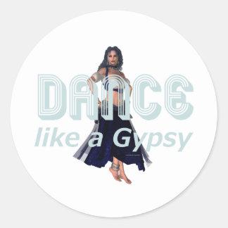 TOP Dance Gypsy Round Sticker