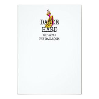 """TOP Dance Hard 5"""" X 7"""" Invitation Card"""