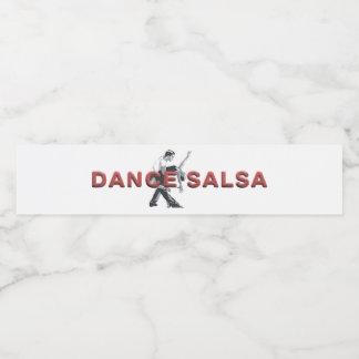 TOP Dance Salsa Water Bottle Label