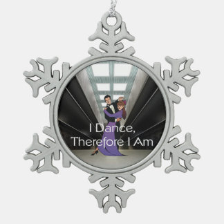TOP Dance Therefore I Am Snowflake Pewter Christmas Ornament